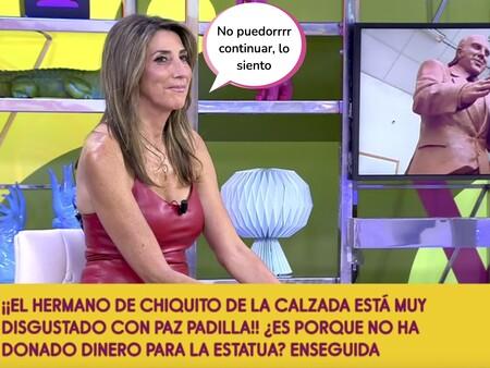 Paz Padilla paraliza 'Sálvame' tras ser señalada por la familia de Chiquito de la Calzada: el momento más tenso en la carrera de la presentadora