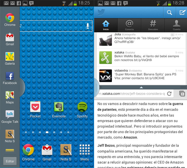 Samsung Galaxy Note II Multiwindow