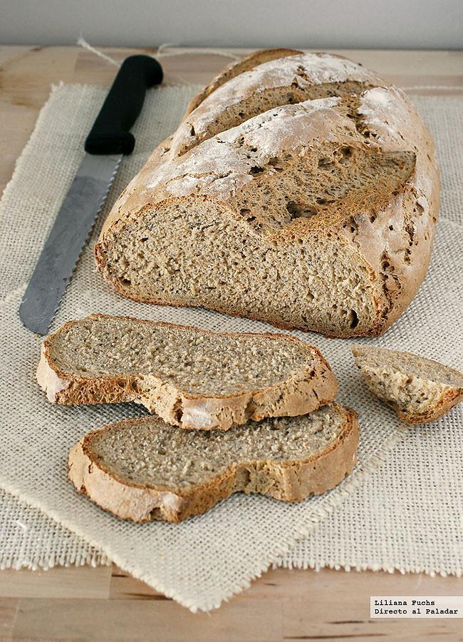 Pan de centeno fácil. Receta de panadería