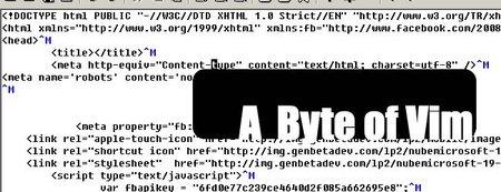 A Byte of Vim, tú también puedes ser geek