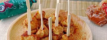 Pinchos de pollo al pimentón. Receta