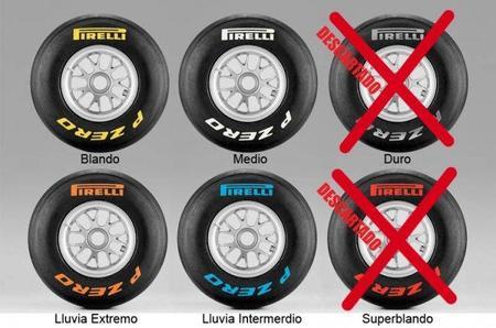 GP de Europa F1 2011: compuestos elegidos por Pirelli