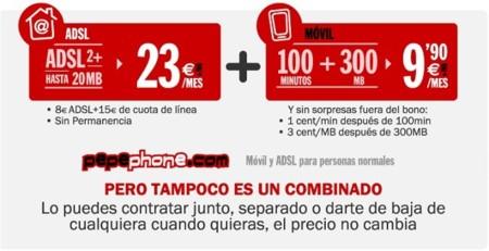 Pepephone estrena tarifa con 100 minutos y 300 MB por 9.90 euros también disponible para combinar con ADSL