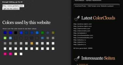 mooColorFinder, conoce los tonos de color usados en cualquier web