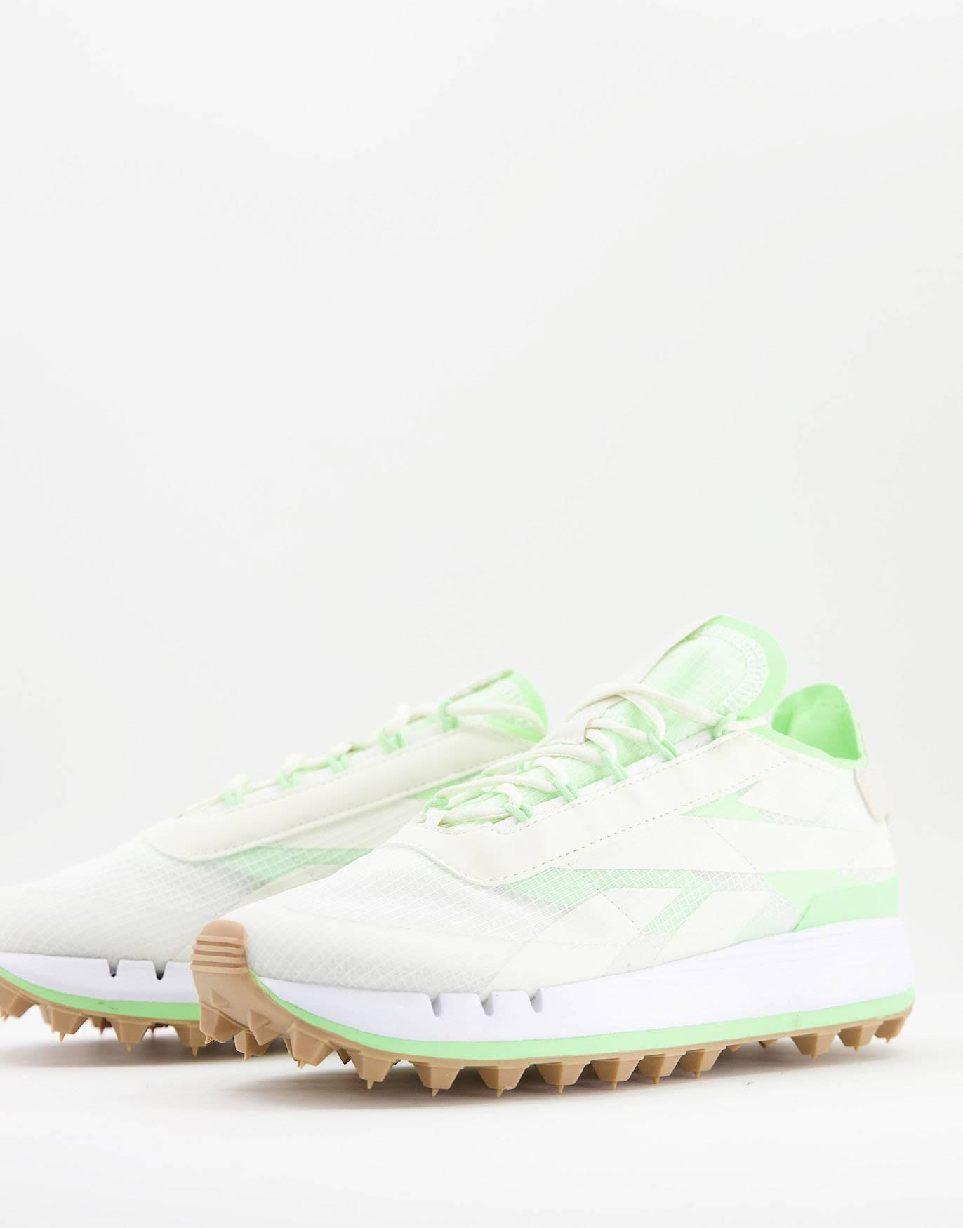 Zapatillas de deporte blancas con detalles neón Legacy 83 de Reebok