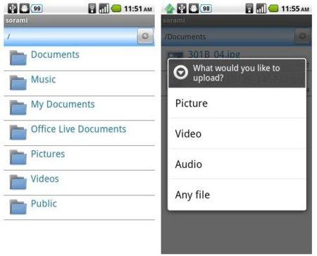 Sorami, conecta tu Android con SkyDrive