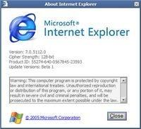 Internet Explorer 7 beta 2 para descargar