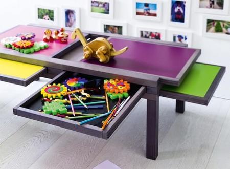 Mil mesas en una con la mesa puzzle, Hexa, de Bernard Vuarnesson para Resource Furniture