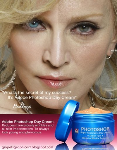 Photoshop, la mejor crema antiarrugas del mundo
