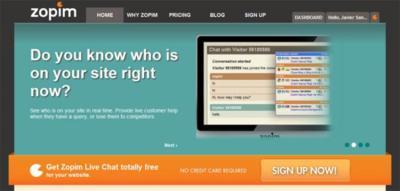 Zopim, añade un sistema de soporte mediante chat en tu web