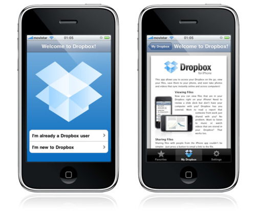 Dropbox para iPhone / iPod touch, ya disponible