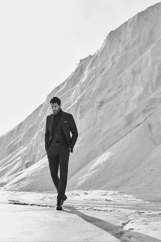Noah Mills Massimo Dutti Fall Winter 2016 Eveningwear Lookbook 002