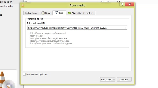 Cómo reproducir listas de YouTube en VLC media player