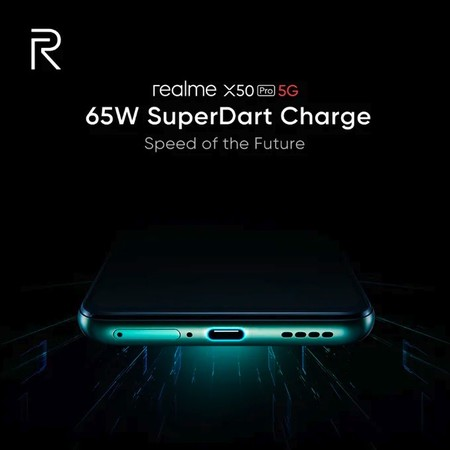65W SuperDart para el Realme X50 Pro 5G