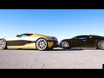 2089 CV en libertad por la costa de Croacia: el Rimac Concept_One se enfrenta al Bugatti Veyron