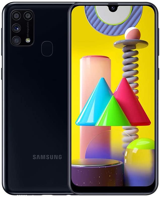 """Samsung Galaxy M31 pantalla 6.4"""", resolución 1080 x 2340 pixeles, batería 5000 mAh 6GB 128GB Negro"""