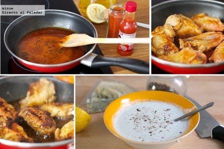 Alitas de pollo con queso azul - elaboración