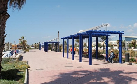 Pérgola solar smartcity Málaga Endesa