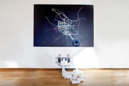Ese carril bici que necesita tu ciudad se convierte en arte con ayuda de un robot dibujante