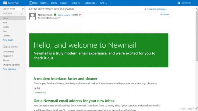 Hotmail rediseñado