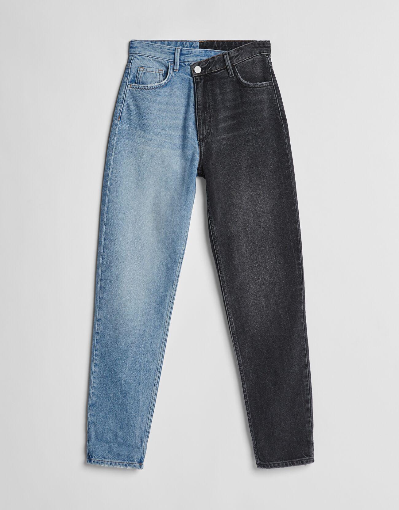 Jeans mom contraste.