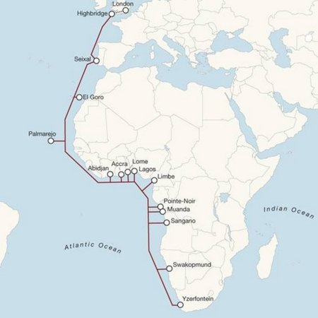 mapa Vodafone cable submarine