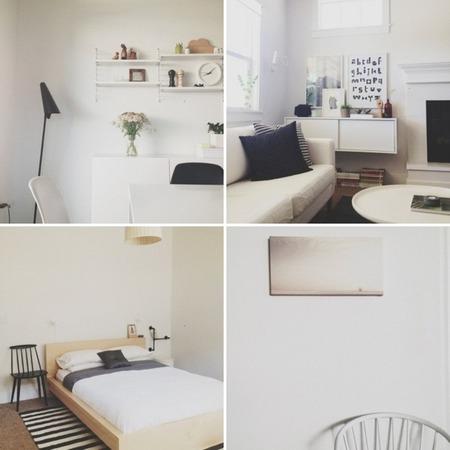 Apartamento minimalista en Instagram