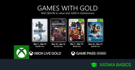 Juegos de Xbox Gold gratis para Xbox One y 360 de marzo 2021
