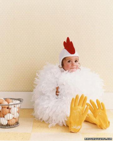 Un disfraz de pollito.