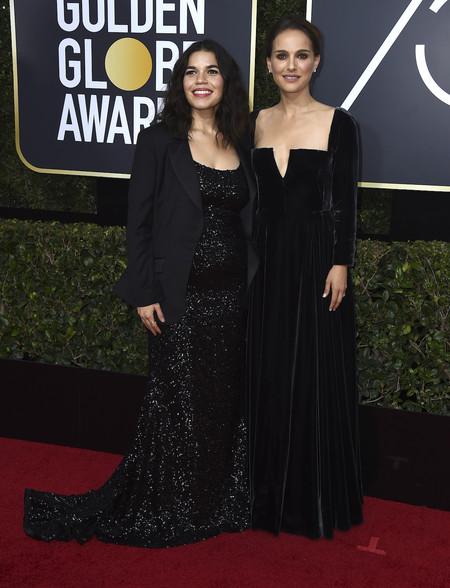 Natalie Portman Dior Globos De Oro 2018