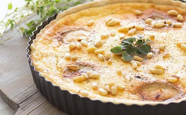 Quiché de queso de cabra fresco y calabacín: receta