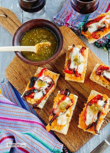 Mini molletes con pimiento, mousse cremoso de limón y más en Directo al Paladar México