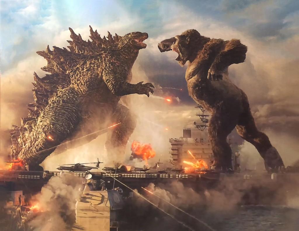 'Godzilla vs. Kong': impresionante primera imagen con los míticos monstruos combatiendo