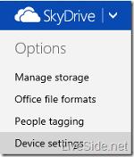 Nueva página de configuración en SkyDrive
