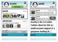 Gravity, accede a Twitter com móviles Symbian