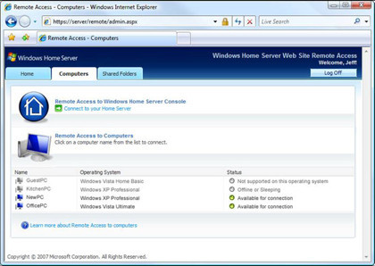 Utilidad de Windows Home Server en la empresa