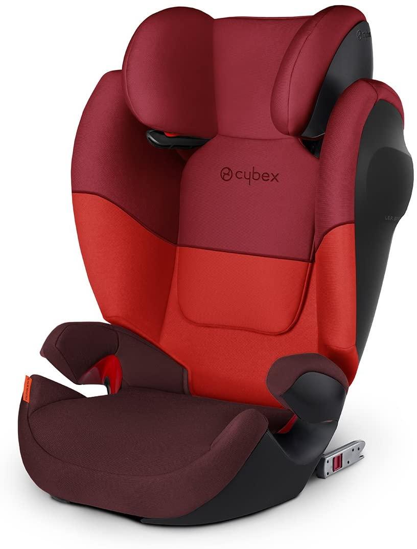 Cybex Silla de coche grupo 2/3, Solution M-Fix SL, Para coches con y sin Isofix, Grupo 2/3 (15-36 kg), Desde los 3 hasta los 12 años, Rojo (Rumba Red)