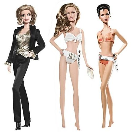 Muñecas Barbie de las chicas de James Bond