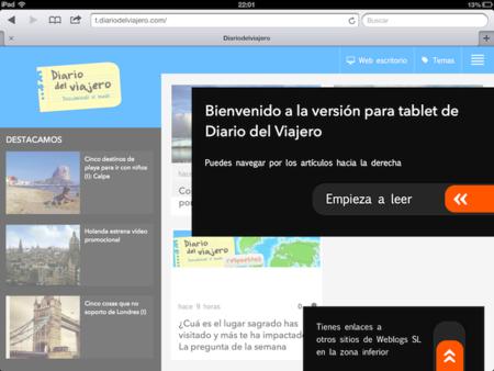 Diario del Viajero en tu tableta