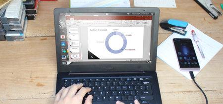 Convertir tu móvil en un portátil es posible: Mirabook y Superbook lo demuestran