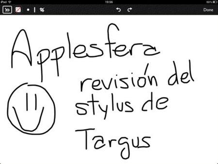 Prueba de escritura del Targus Stylus