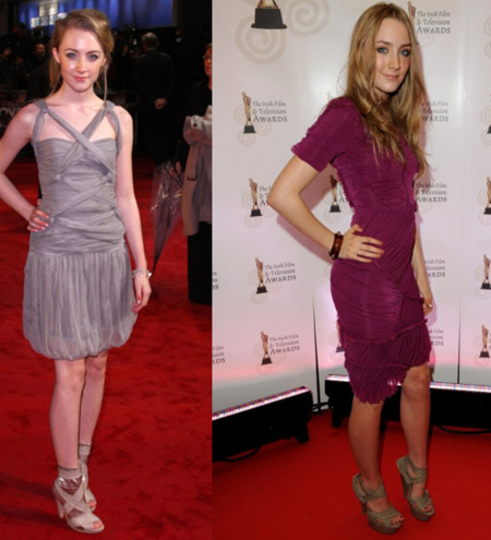 A Saoirse Ronan le gusta Burberry