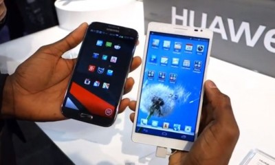 Huawei Ascend Mate vs. Samsung Galaxy Note II, comparando en vídeo a los dos gigantes