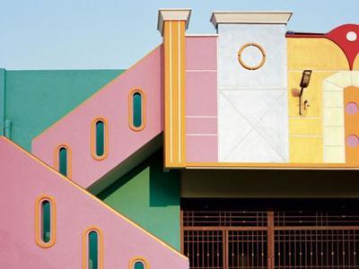 Bellas casas de colores al sur de la India en Tirunamavalai