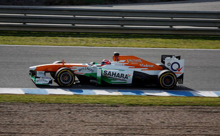 James Rossiter Force India Jerez 2013