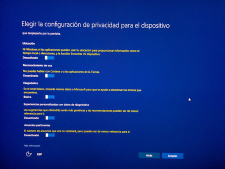 Windows 10 Creators Update Privacidad