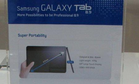 Samsung Galaxy Tab 8.9, se desvelan los primeros datos