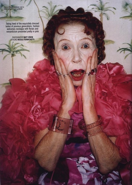Foto de Dazed & Confused enero 2008 - abuelas fashion (5/10)