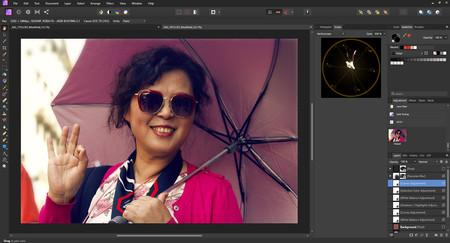filtros en vivo de affinity photo