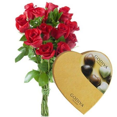 Flores y bombones Godiva